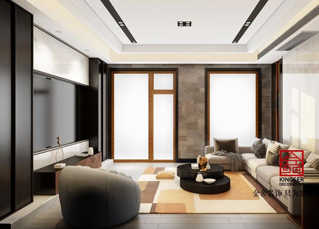 别墅极简风格客厅