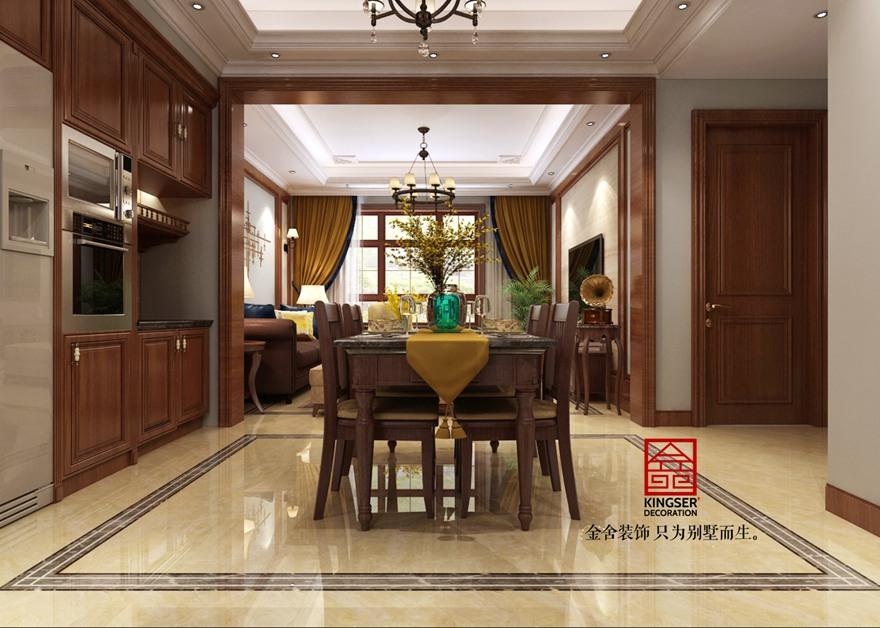 西山林语-美式风格-餐厅