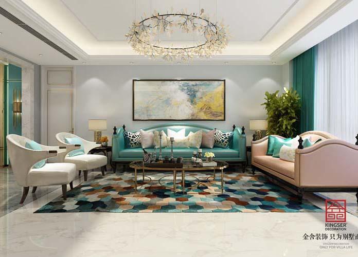 林荫大院260大平层-现代轻奢-客厅