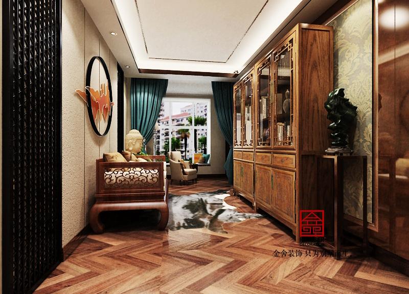 长久中心洋房装修-美式风格-书房