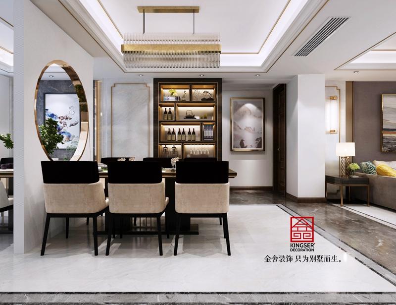 天下锦城装修-新中式风格-餐厅