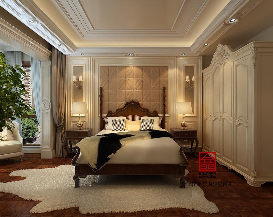 蓝郡别墅装修-欧式风格-卧室