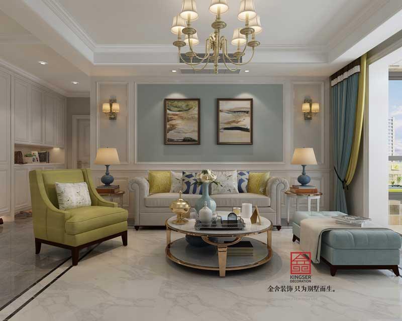 维多利亚装修-美式-客厅