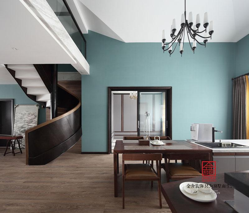 御河上院220平米装修-轻奢风格-餐厅