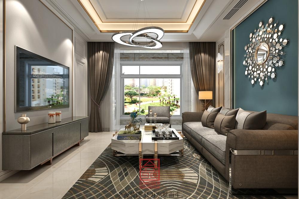 融创中心装修-轻奢风格-客厅