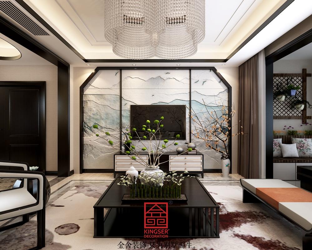 东南智汇城装修-新中式风格-客厅
