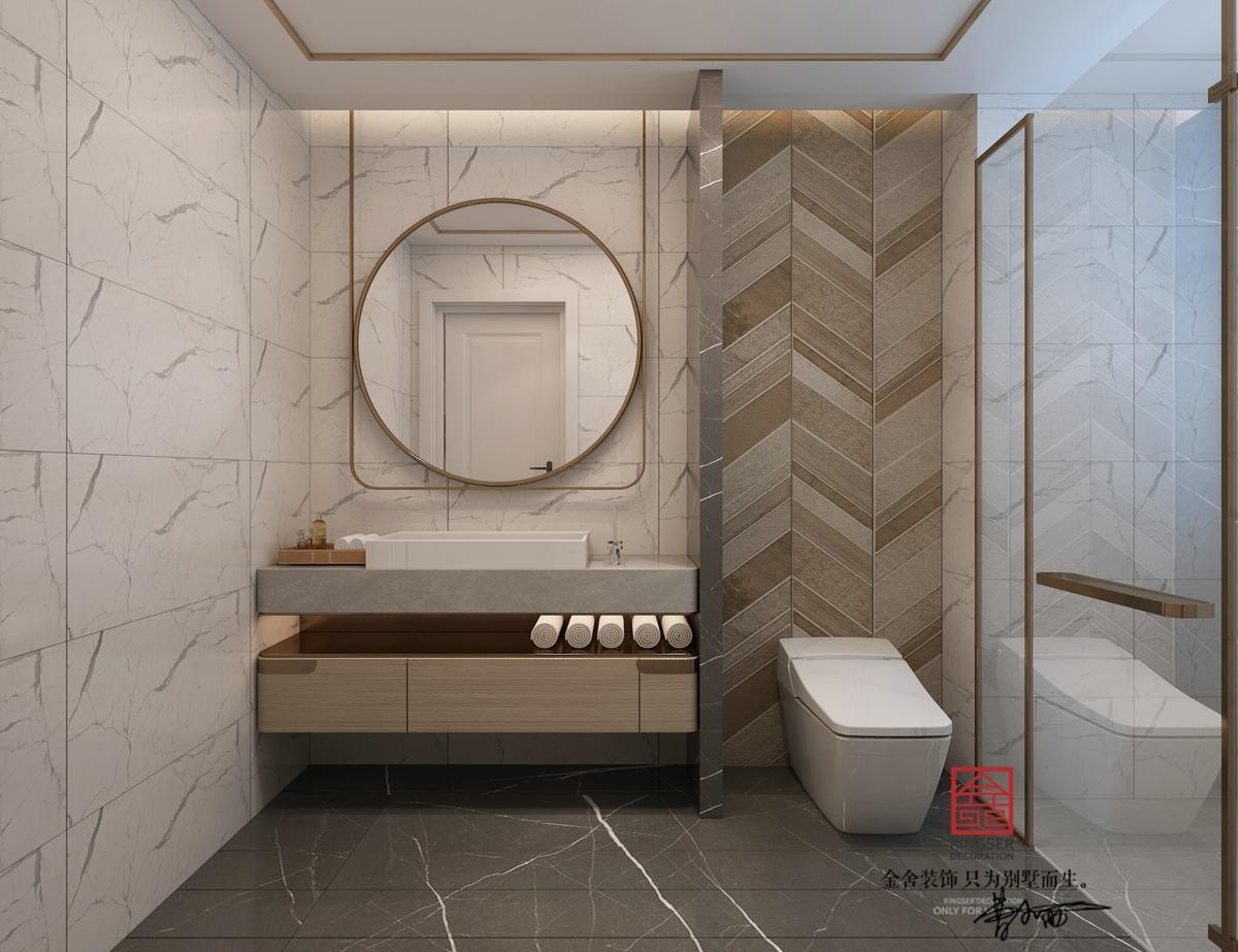融创中心装修-轻奢风格-卫生间