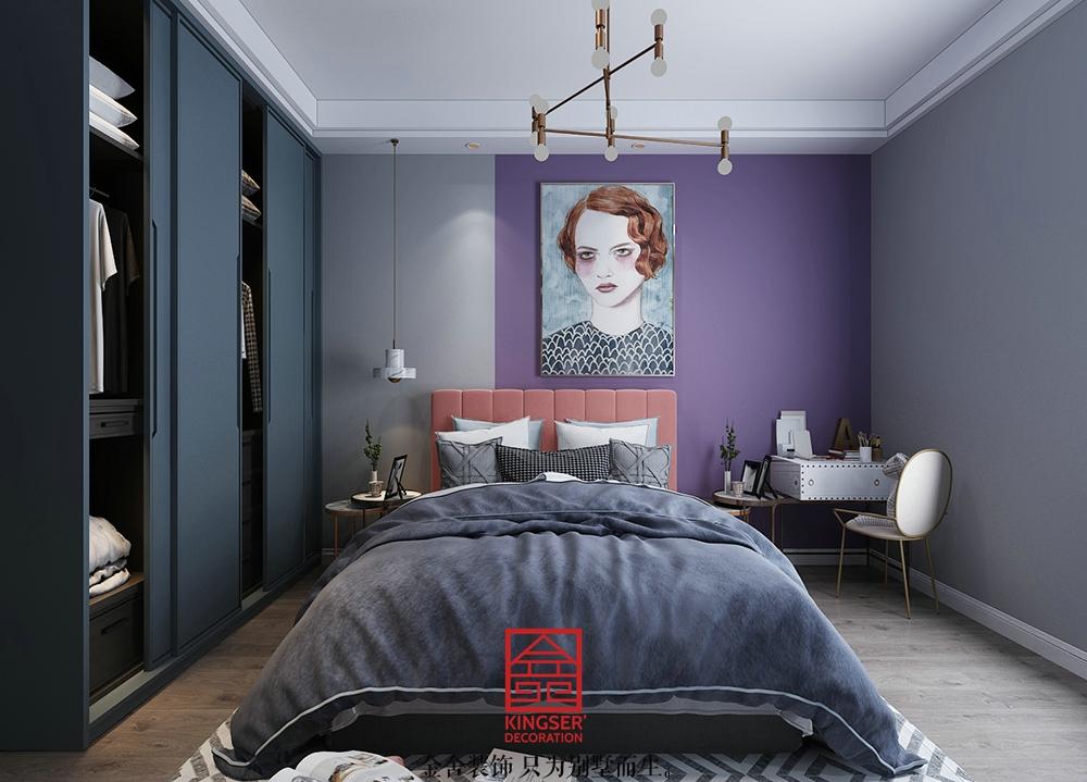 龙湖天辰原著装修-轻奢风格-卧室