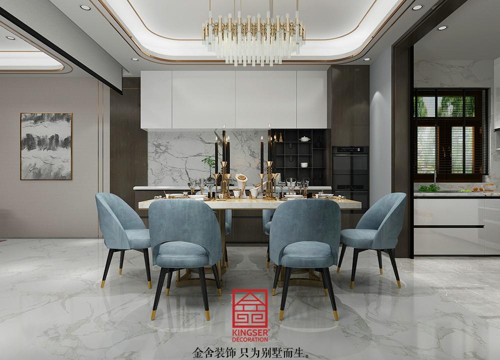 龙湖天辰原著装修-轻奢风格-餐厅