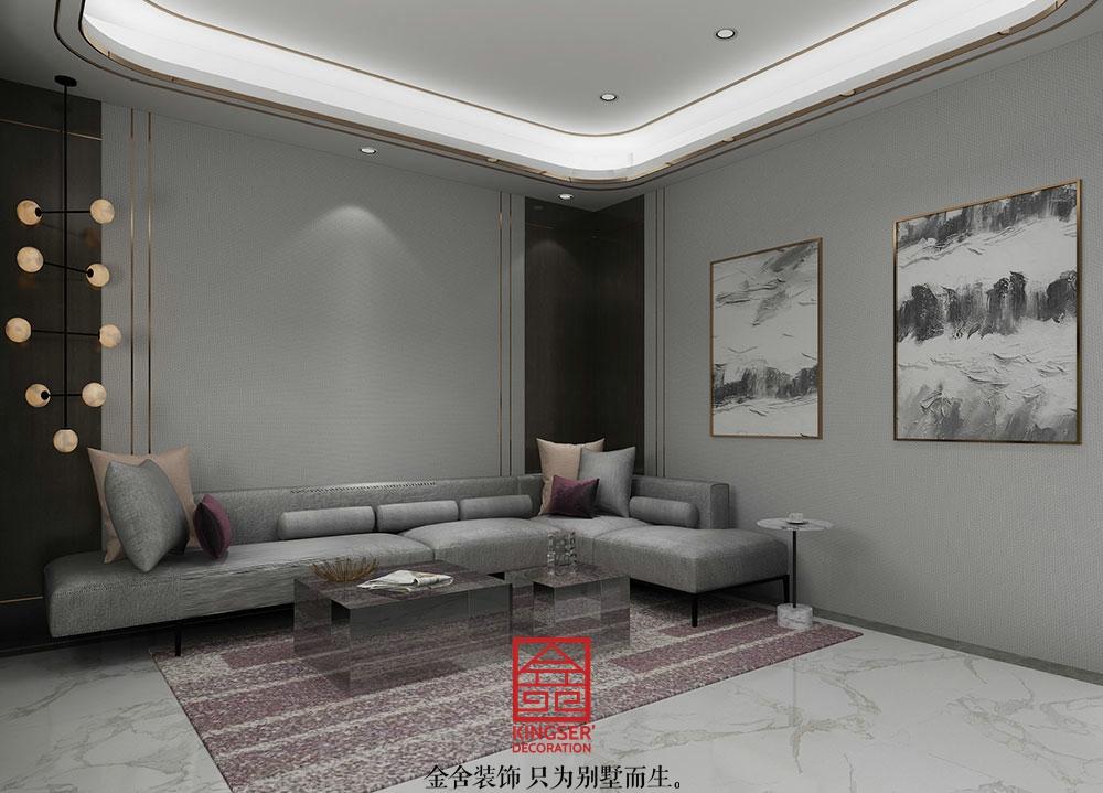 龙湖天辰原著装修-轻奢风格-客厅
