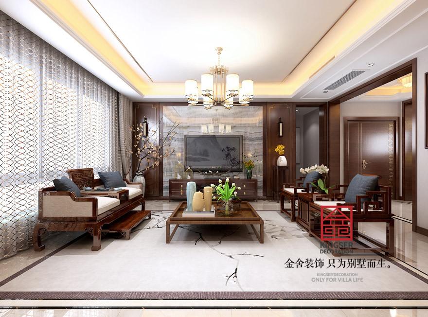 天山九峯装修-中式风格-客厅