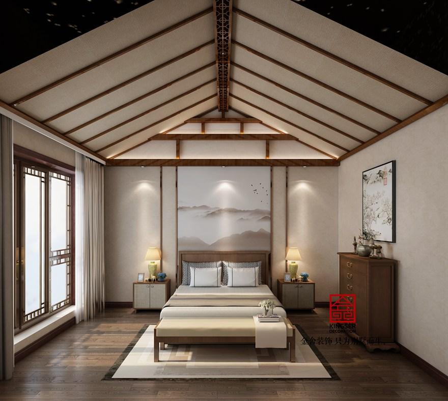 大者别墅装修-中式风格-卧室