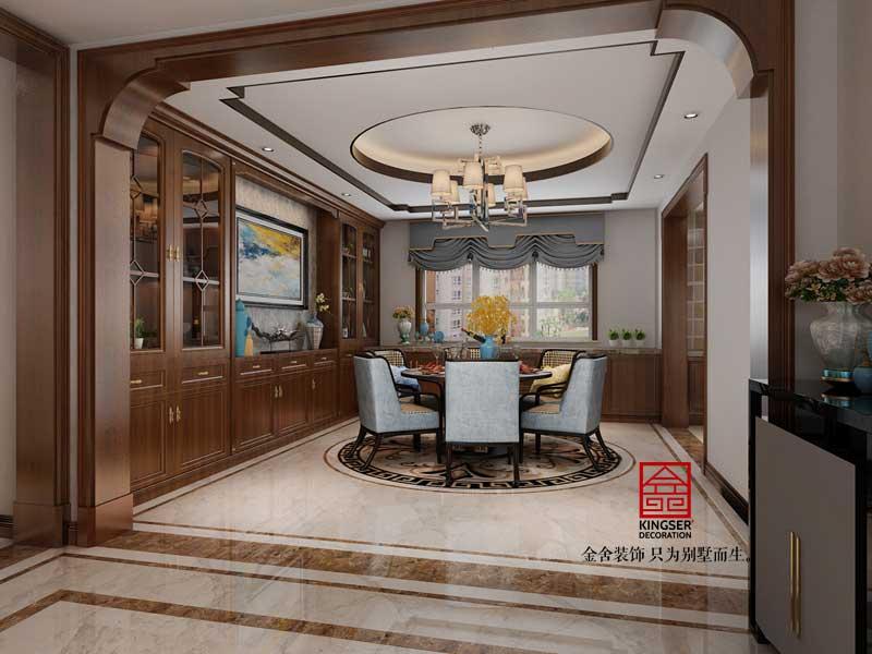 鑫界王府168平米装修-中式风格-餐厅