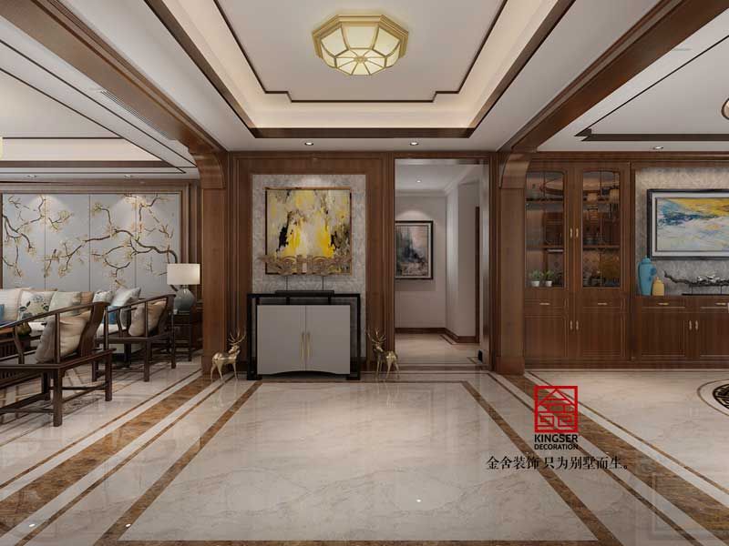 鑫界王府168平米装修-中式风格-玄关