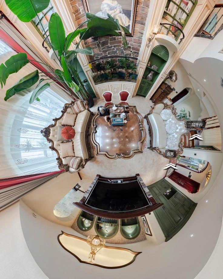 国宾壹号280平米美式风格装修实景全景图