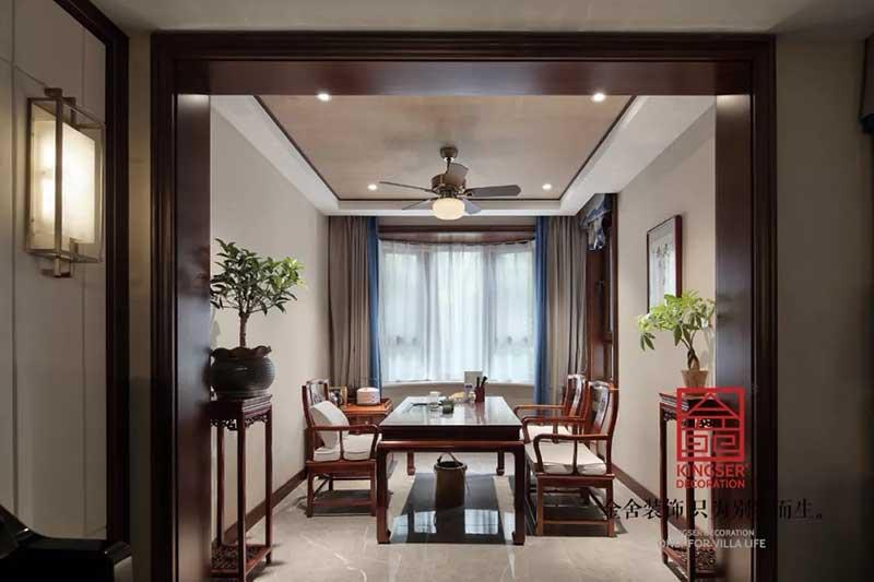 国宾壹号装修实景-中式风格-茶室