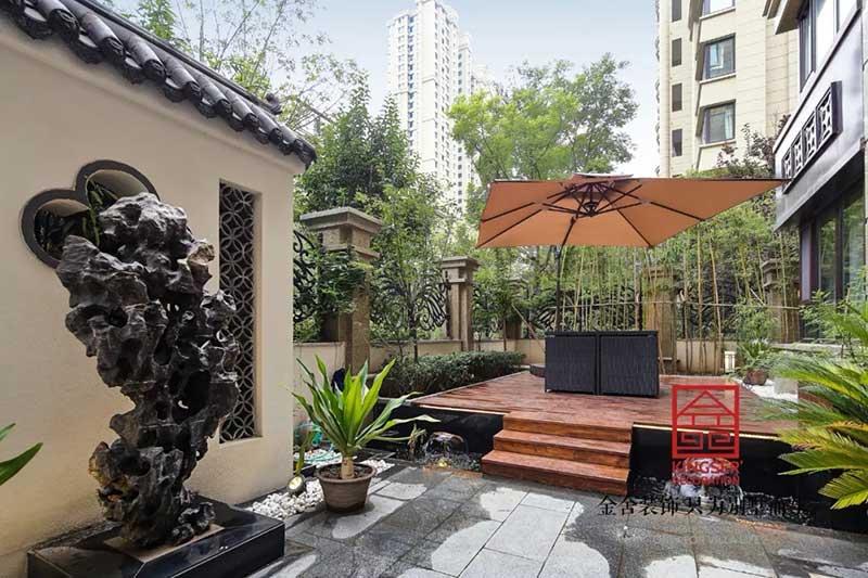 国宾壹号装修实景-中式风格-庭院