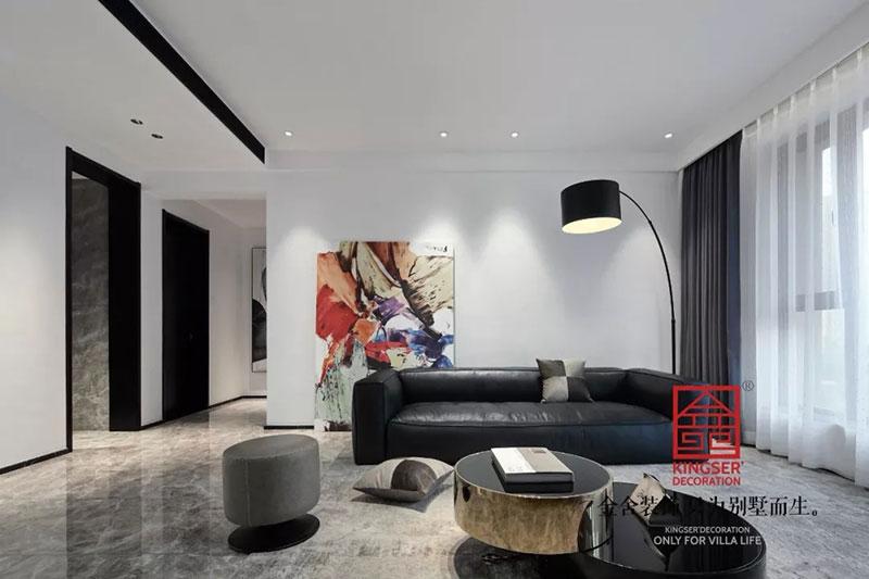 天山九峯175平米装修-极简风格-客厅