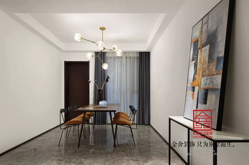 天山九峯175平米装修-极简风格-餐厅