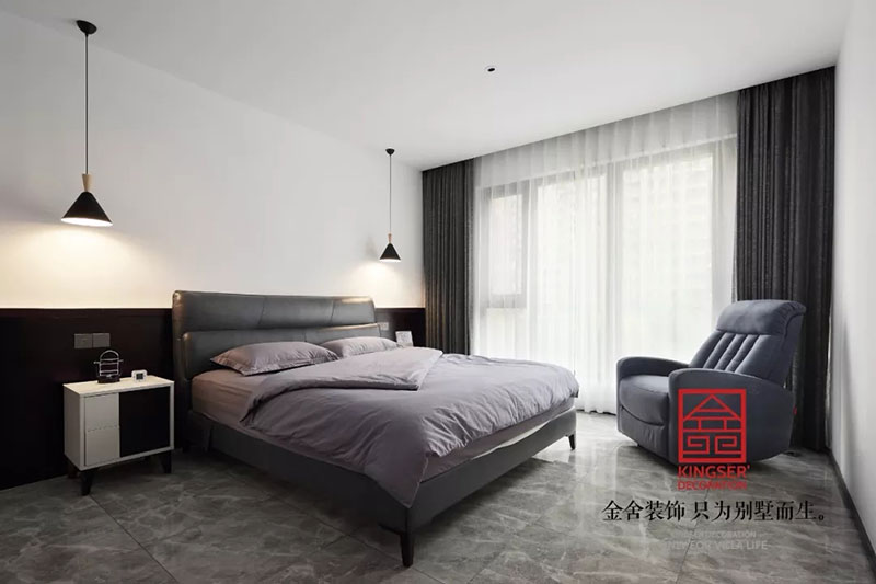 天山九峯175平米装修-极简风格-卧室