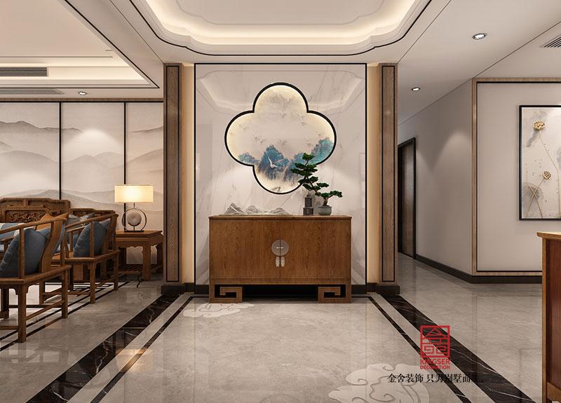 东南智汇城装修-中式风格-玄关