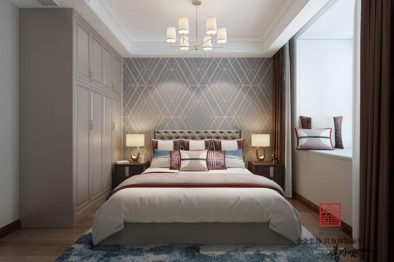 东南智汇城装修-美式风格-卧室