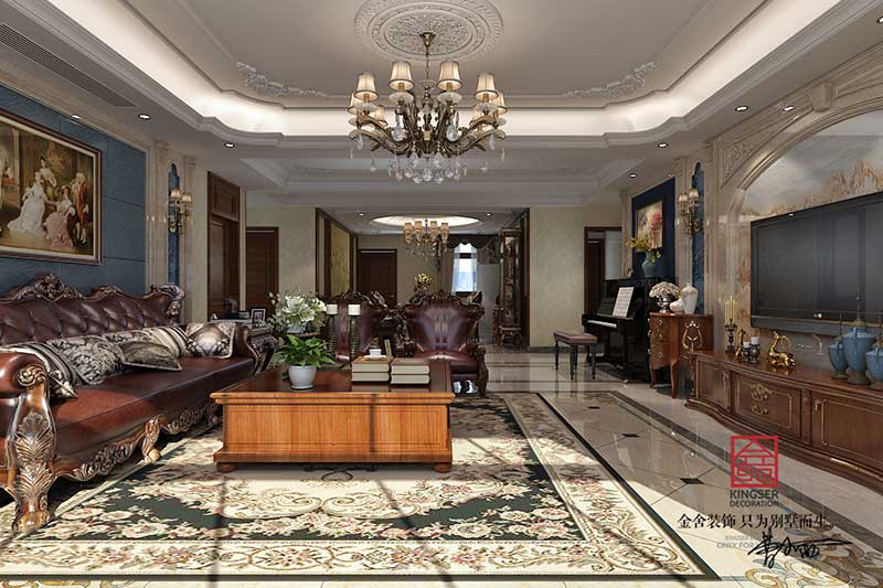 紫晶悦城装修-新古典风格-客厅