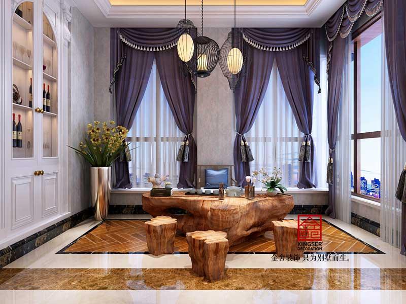 碧桂园别墅装修-欧式风格-休息室