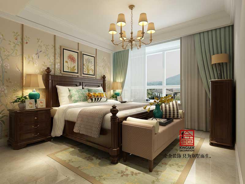 德贤公馆装修-美式风格-卧室