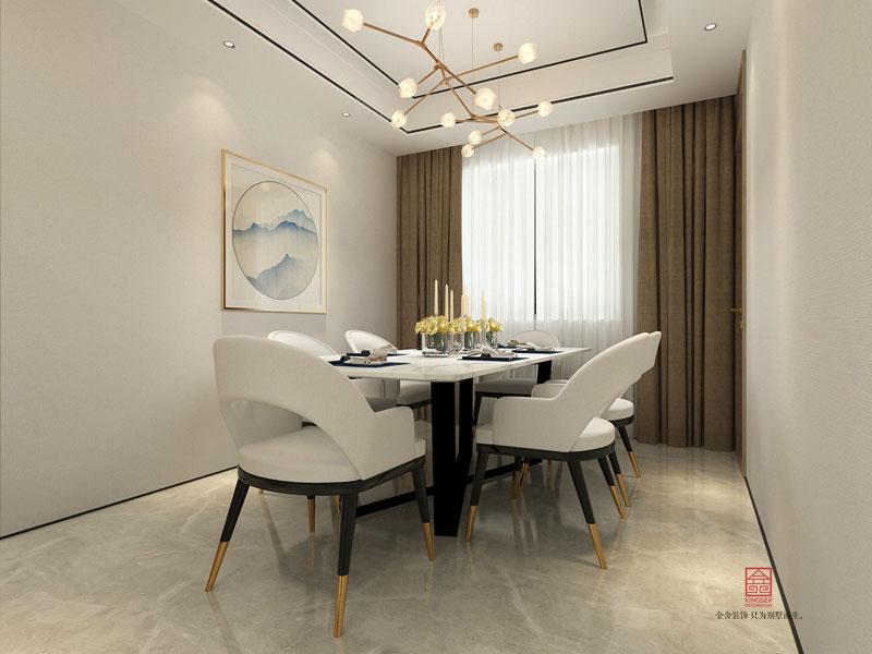 荣盛华府装修-新中式风格-餐厅