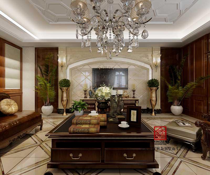 赞皇自建别墅装修-欧式风格-客厅