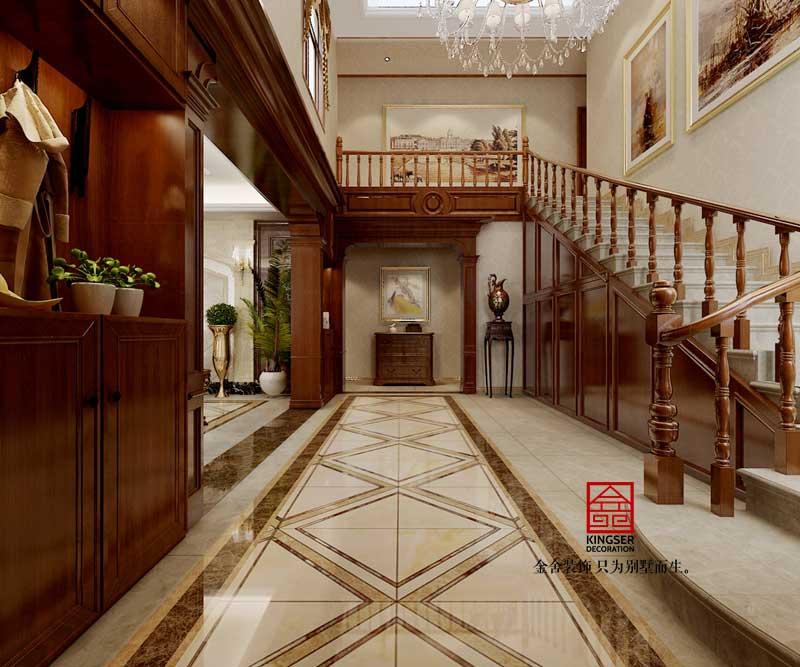赞皇自建别墅装修-欧式风格-楼梯