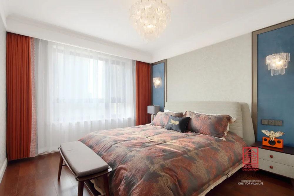 奥北公元装修-轻奢风格-卧室