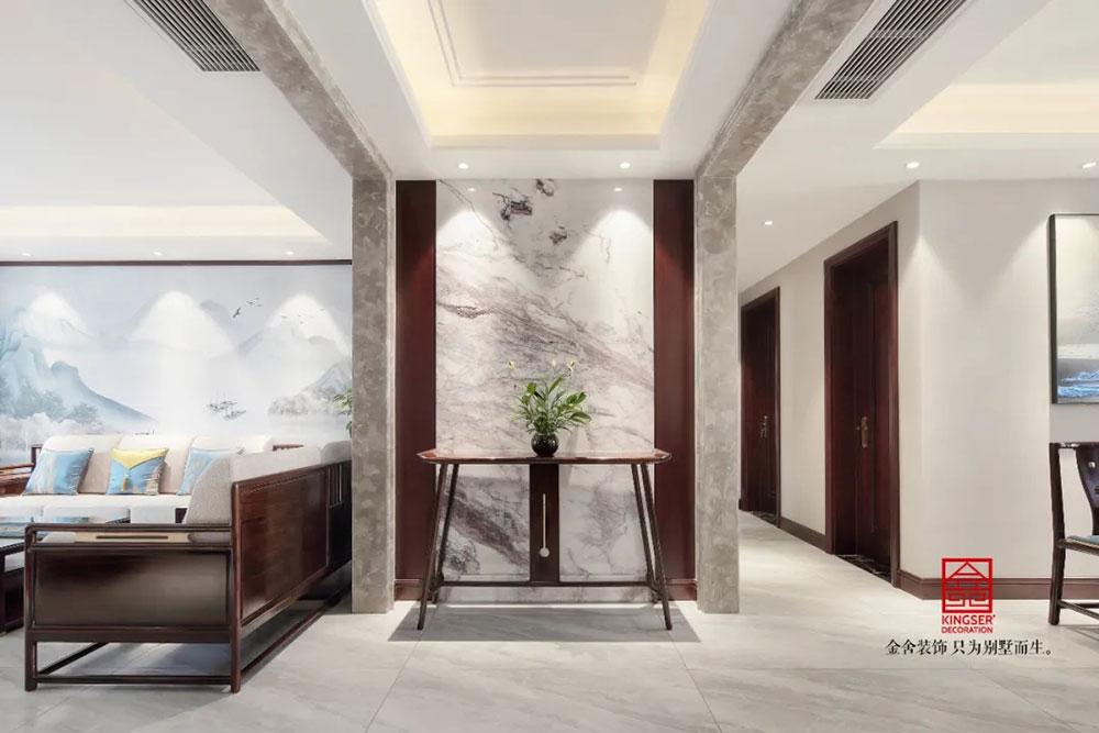 保利拉菲公馆装修-中式风格-玄关