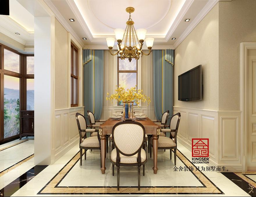 大者别墅装修-美式风格-餐厅