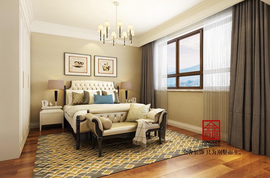 大者别墅装修-美式风格-卧室