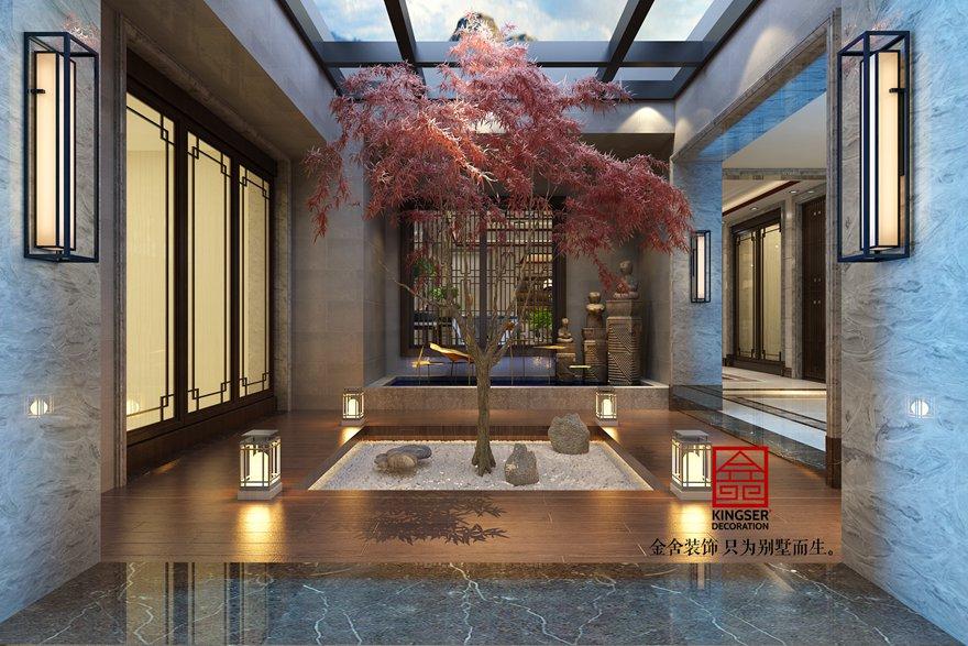 自建别墅装修-混搭模式-庭院