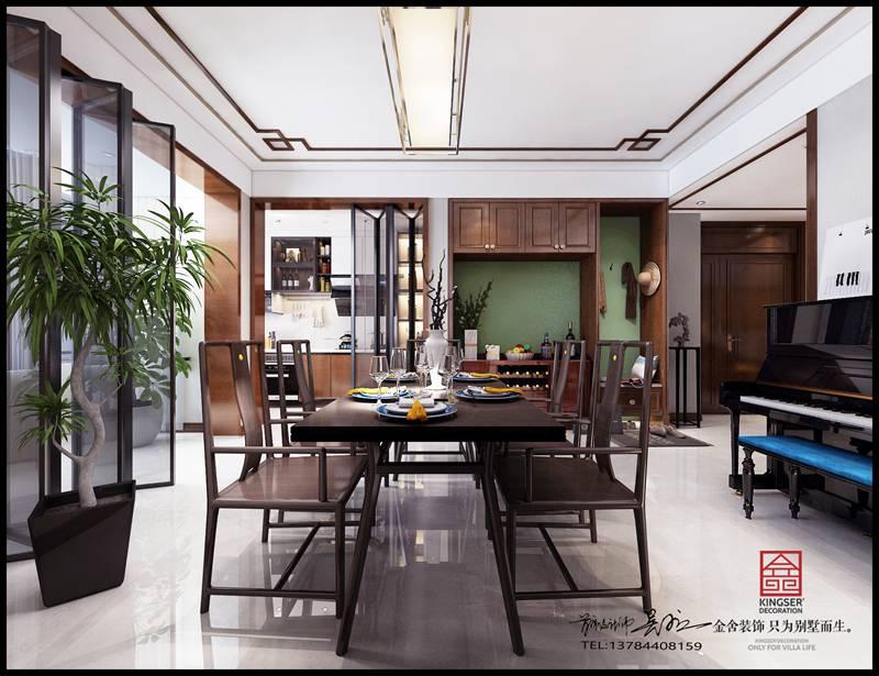 荣盛华府中式风格装修-餐厅