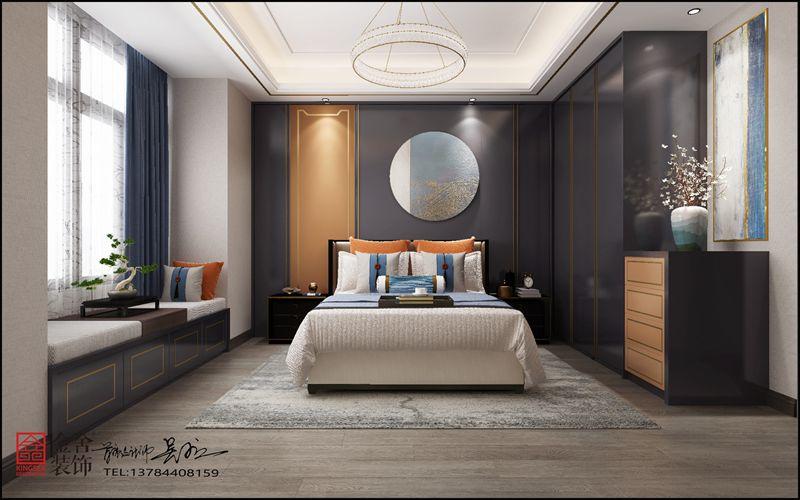 荣盛华府装修-新中式-卧室