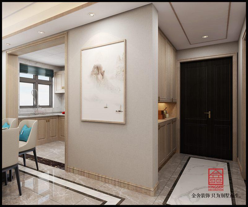国宾壹号装修-新中式风格-餐厅