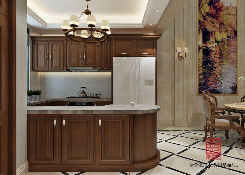 江南新城300平米装修-欧式风格-厨房