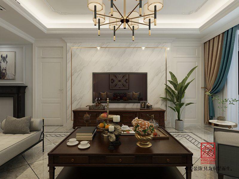 林荫大院装修-美式风格-客厅