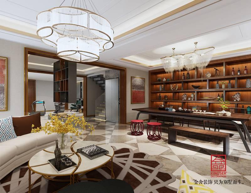 江南新城装修-轻奢风格-客厅