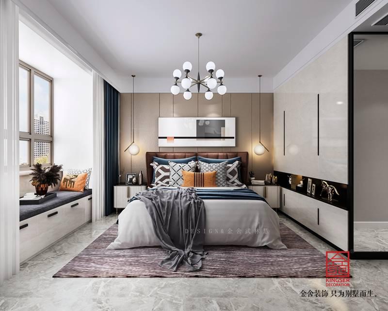 保利拉菲公馆装修-现代风格-卧室