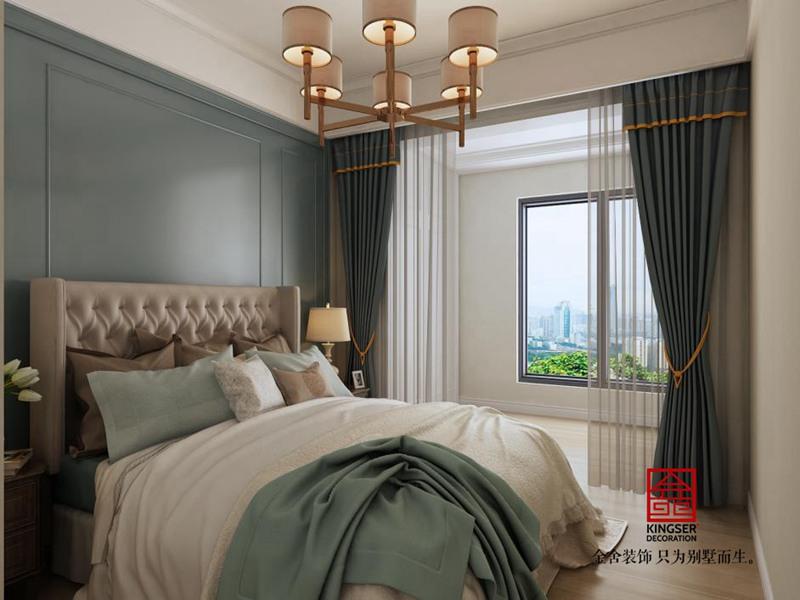 融创中心155平米装修-港式风格-卧室