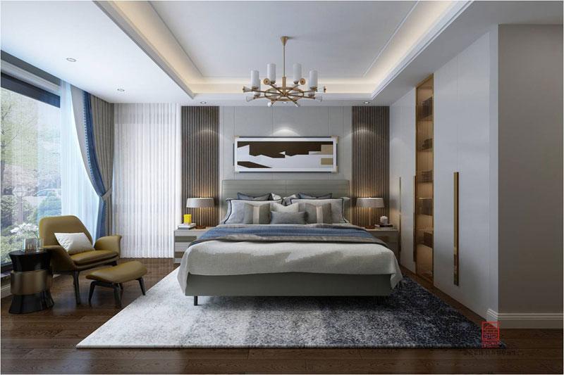 融创中心装修-现代简约风格-卧室