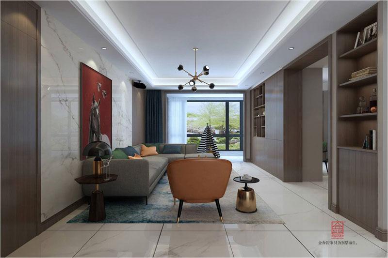 融创中心装修-现代简约风格-客厅