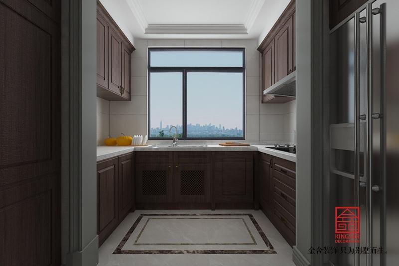 融创中心155平装修-简美风格-厨房