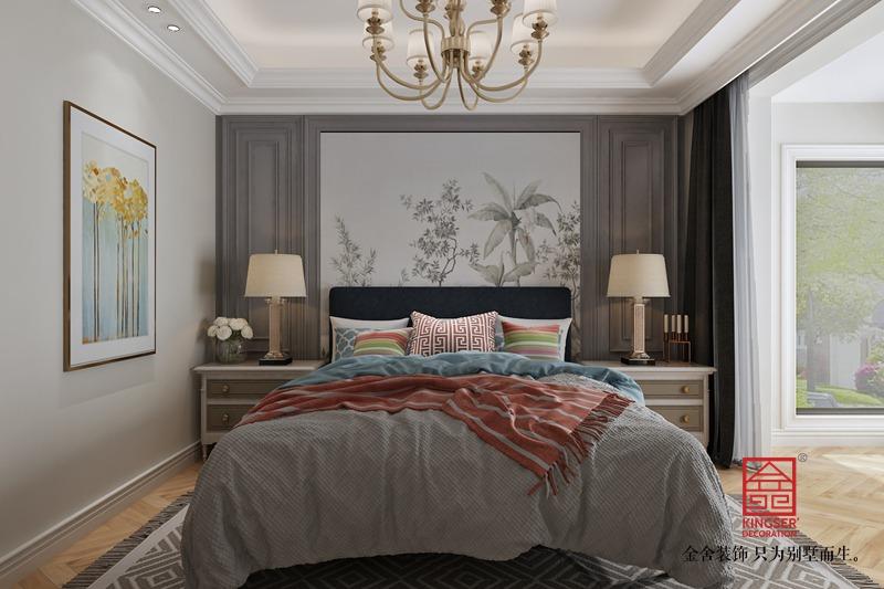 融创中心155平装修-简美风格-卧室