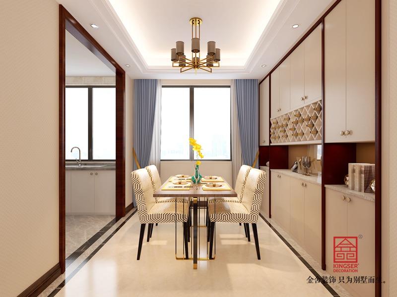 融创中心125平米-新中式装修-餐厅